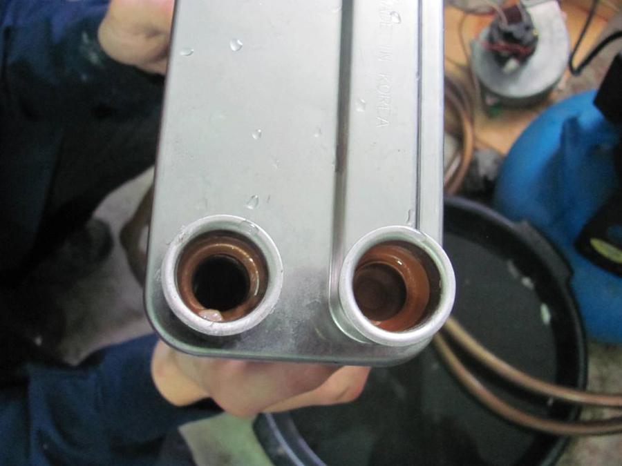 Как промыть теплообменник навьен теплообменник пластинчатый m3-fg одноходовой